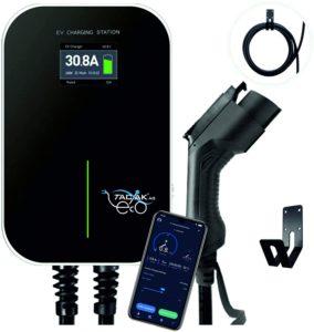 Ladestation für Elektroautos, 11 KW mit LCD-Anzeige mit Ladekabel - förderfähig nach KFW-Prog. 440