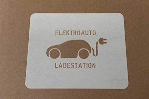 Elektroauto - Ladestation Bodenmarkierungs-Schablone