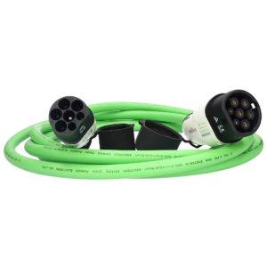E-Autos.de EV Ladekabel für Elektrofahrzeuge Stecker Typ 2 zu Typ 2 (Mennekes) 32A 3-phasig Kabellänge 5m