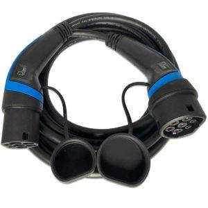 EV Expert EVET2321-3 Ladekabel Typ 2, Schwarz und blau, 1-phasig, 5 Meter