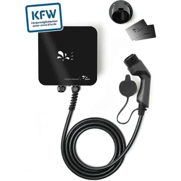 juice Charger me 11kW - Wallbox KfW förderfähig, Plug & Play Ladestation für Elektroautos & Plug In Hybrid Autos mit Typ 2 Ladekabel 5m, Made in Germany