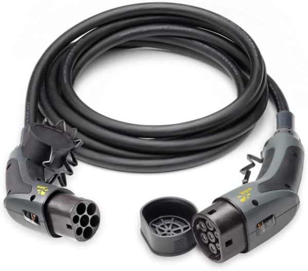 juice Flow - Ladekabel für EV Elektroautos PHEV 22kW 32A Typ 2 auf Typ 2 6 Meter 3-Phasig Silberkontakte